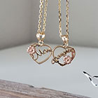 Mom and Daughter Hearts Necklaces - Mom and Daughter Necklace Set