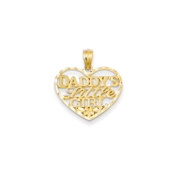 Daddy's Little Girl Necklace - 14K Yellow Gold