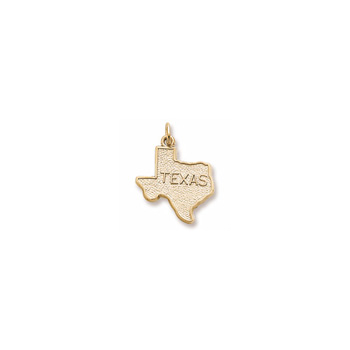 Rembrandt 14K Yellow Gold Texas State Charm – Engravable on back - Add to a bracelet or necklace
