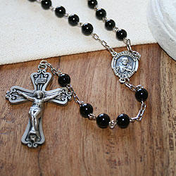 In His Name - Sterling Silver Antique Black Onyx 24
