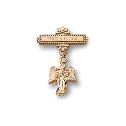 Angel - Christening / Baptism Pin - 14K Gold-Filled/