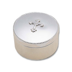 Baptism Keepsake Box - Silver-Plated - Engravable/