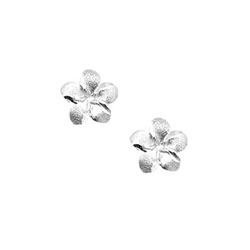 Girls Elegant Flower Girl Keepsakes™ - 14K White Gold Screw Back Flower Earrings for Babies & Toddlers - Safety threaded screw back post/