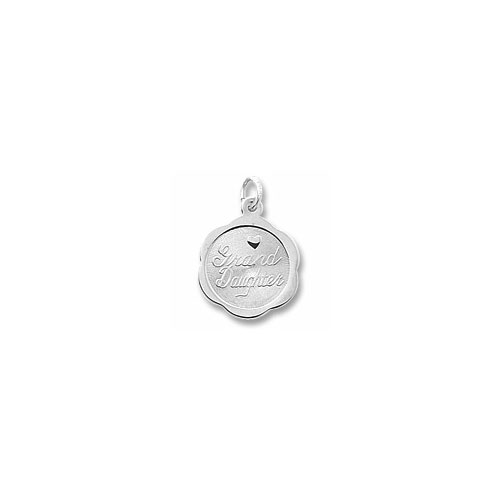 My Dear Grand Daughter - Sterling Silver Rembrandt Charm – Engravable on back - Add to a bracelet or necklace - BEST SELLER