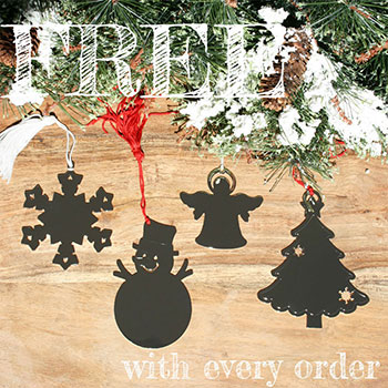Engravable Silver Ornament - FREE with every jewelry order - Choice of Christmas Tree, Snowflake, Snowman, or Angel - A $35 Value