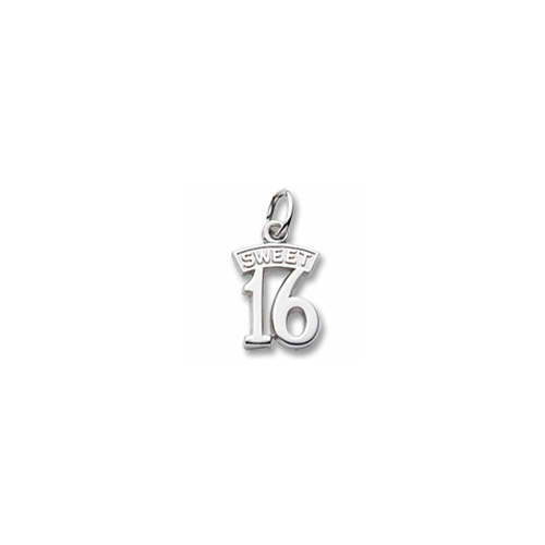 Rembrandt Sterling Silver Sweet 16 Charm – Add to a bracelet or necklace