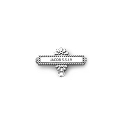 Add Your Own Charm - Custom Christening / Baptism Pin - 14K White Gold/