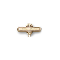 Add Your Own Charm - Custom Christening / Baptism Pin - 14K Yellow Gold/