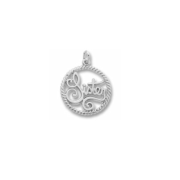 Rembrandt Sterling Silver Sister Charm – Add to a bracelet or necklace
