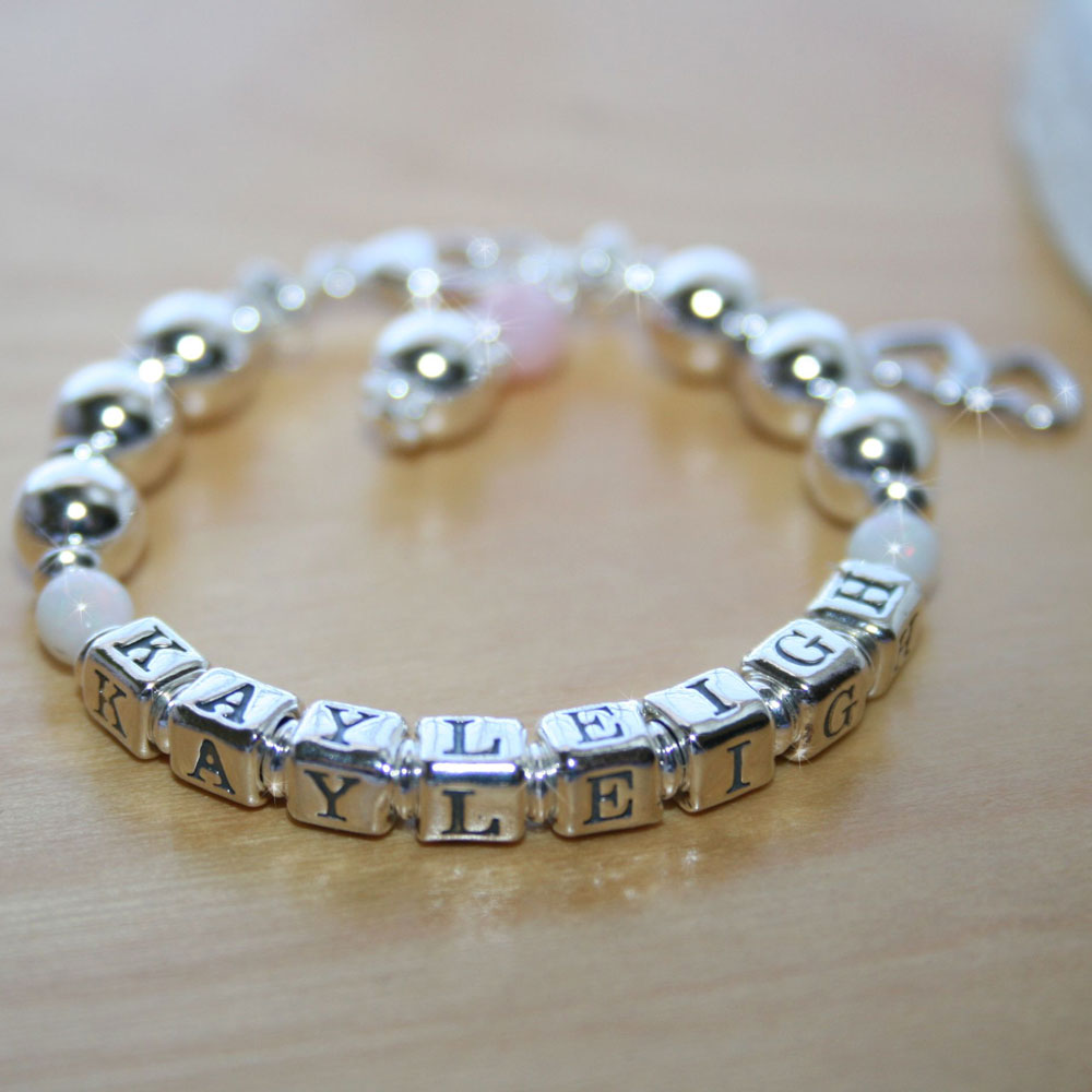 d6e37e58f3474 Kayleigh Ann - Baby / Children's Custom Name Bracelet - Sterling ...
