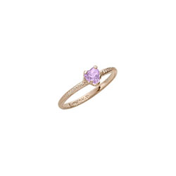 Kid's Heart Ring - 10K Gold - June Birthstone/