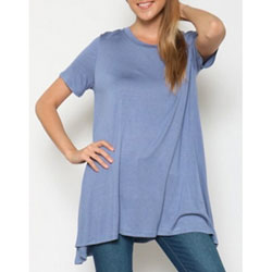 Super-Soft Blue Tunic for Teens and Women - Customer Favorite/