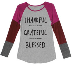 Super-Soft Pink Multi Thankful Grateful Blessed Baseball Jersey for Teens and Women - Customer Favorite/