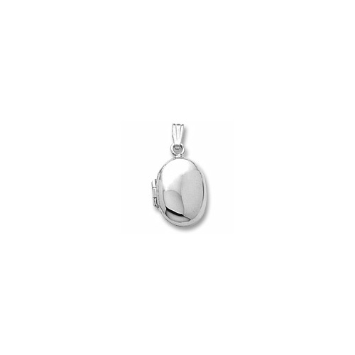 Rembrandt Sterling Silver Heirloom Oval Locket - Engravable on front and back - Add to a bracelet or necklace
