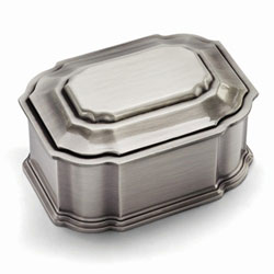 Harper Lily - Large Engravable Pewter-Tone Finish Jewelry Box/