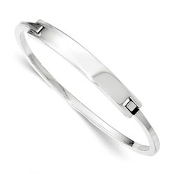 Girls Name Bracelet - Silver Bangle for Girls/