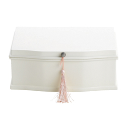Avery Carter - Whimsical Ballerina Jewelry Box for Girls - White - Engravable - BEST SELLER/