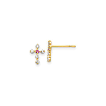 Childrens Cross Earrings
