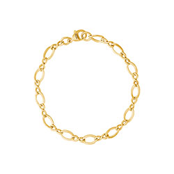 Rembrandt Large Figure Eight Link Classic Bracelet - Gold Plate/