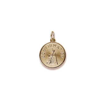 Rembrandt 10K Yellow Gold Girl's Confirmation Charm – Best Confirmation Gift – Add to a bracelet or necklace