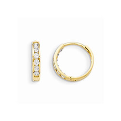 Children's CZ Huggie Hoop Earrings/