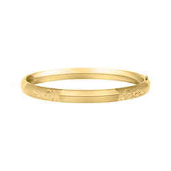 Girls Bangle Bracelet - 14K Gold-Filled/