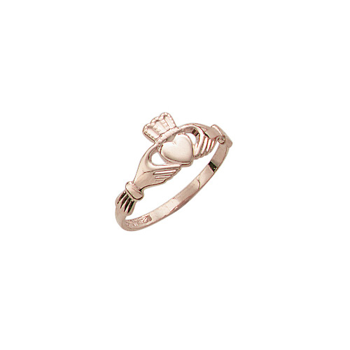 Claddagh - Love, Friendship, & Loyalty - 14K Yellow Gold Children's Claddagh Ring - Size 4 Child Ring