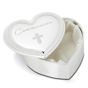 You Are So Loved - Communion Heart Cross Keepsake Box/
