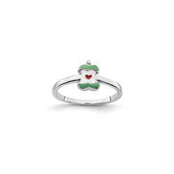 You're the Apple of My Heart! Child Ring - Sterling Silver Rhodium/