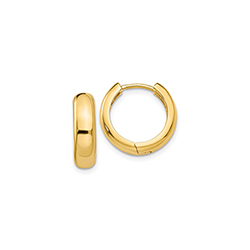 Classic Gold Huggie Hoop Earrings for Babies and Little Girls - 14K Yellow Gold/