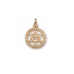 Rembrandt 10K Yellow Gold Star of David Charm – Add to a bracelet or necklace/