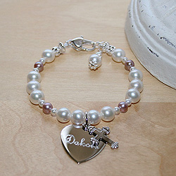 Beautiful Girl™ by My First Pearls® Baby Bracelet – Grow-With-Me® designer original freshwater cultured pearl baby bracelet – Personalize with gemstones & charms/