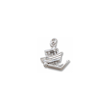 Rembrandt Sterling Silver Noah's Ark Charm – Add to a bracelet or necklace