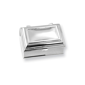 Emily Claire - Engravable Rectangular Silver-Plated Jewelry Box