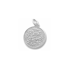 Rembrandt Sterling Silver Best Friends Charm – Engravable on back - Add to a bracelet or necklace/
