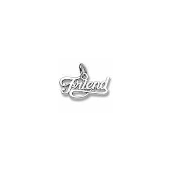 Rembrandt Sterling Silver Friend Charm – Add to a bracelet or necklace