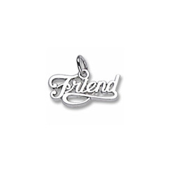 Rembrandt Sterling Silver Friend Charm – Add to a bracelet or necklace/