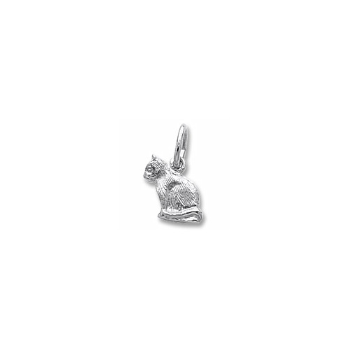 Rembrandt Sterling Silver Cat Charm Tiny Add To A Bracelet Or Necklace Item 739 0977 Ss