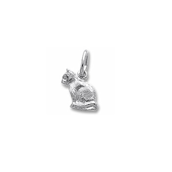 Rembrandt Sterling Silver Cat Charm (Tiny) – Add to a bracelet or necklace