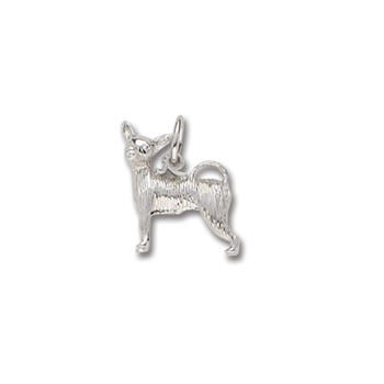 Rembrandt Sterling Silver Chihuahua Charm – Add to a bracelet or necklace