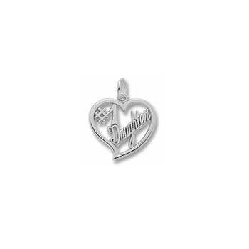 Rembrandt Sterling Silver #1 Daughter Charm – Add to a bracelet or necklace