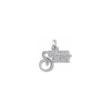 Rembrandt Sterling Silver Special Sister Charm – Add to a bracelet or necklace