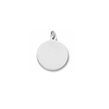 Rembrandt Sterling Silver Large Round Charm (35 Series) – Engravable on front and back - Add to a bracelet or necklace - BEST SELLER