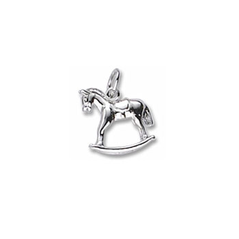 Rembrandt Sterling Silver Rocking Horse Charm – Add to a bracelet or necklace - BEST SELLER