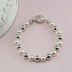 Amelie Collection - Baby / Children's Pearl Bracelet/