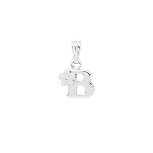 Initial Necklace for Little Girl - Letter B - Sterling Silver