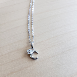 Initial Necklace for Little Girl - Letter C - Sterling Silver/