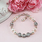 Daisies in Bloom - Flower Girl Bracelet