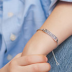Sterling Silver Boys Toddler / Baby ID Bracelet - Size 6 Adjustable to Size 5