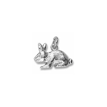 Rembrandt Sterling Silver Rabbit Charm – Add to a bracelet or necklace